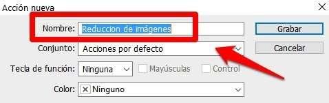 reducción automática de fotos nombre acciones