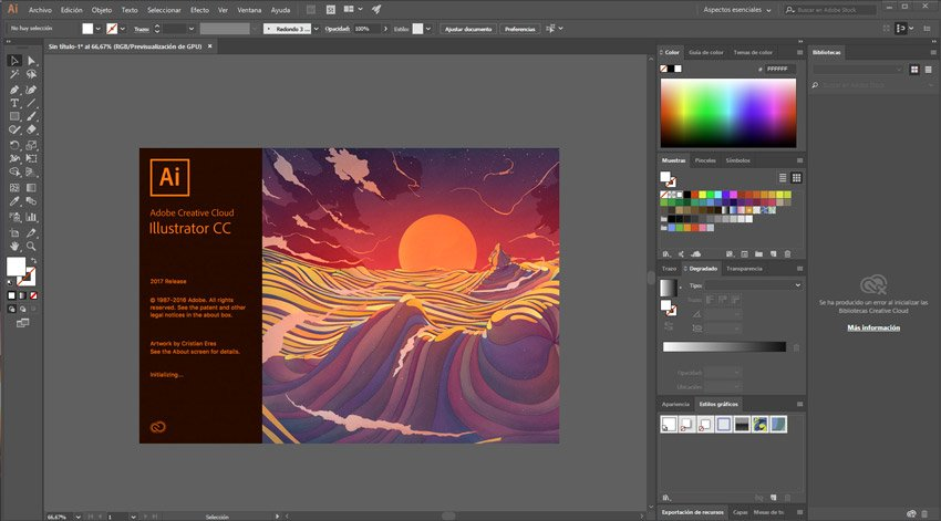 software Adobe Illustrator 2017 cc