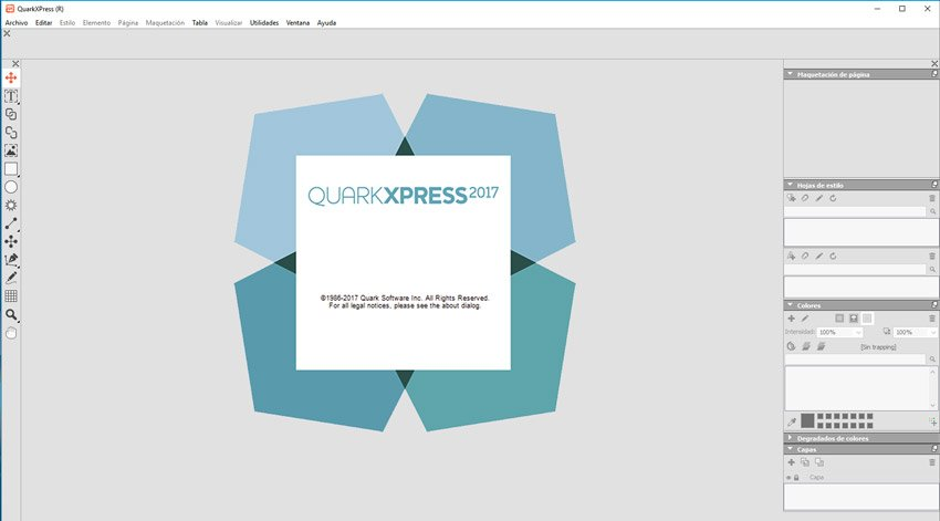 Software quarkXPress 2017