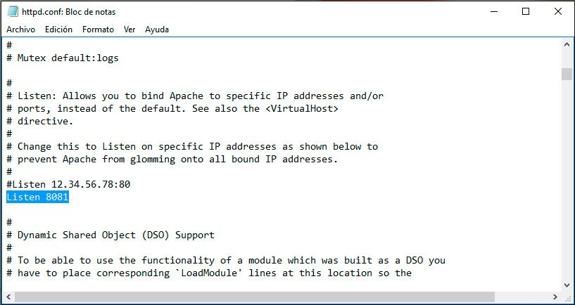 apache3 xampp en windows
