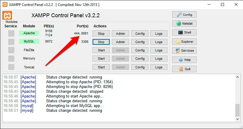 apache5 xampp en windows