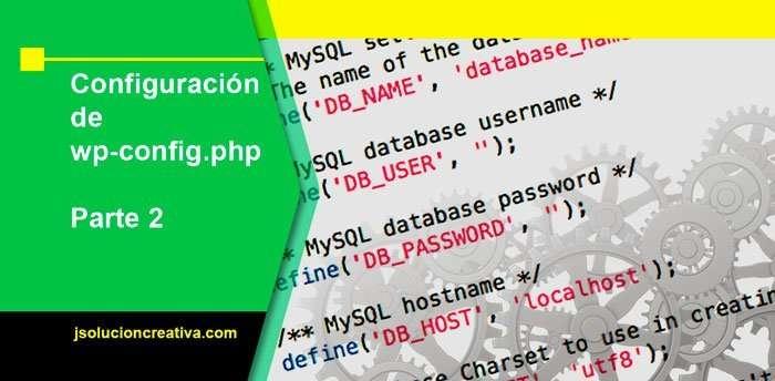 configurar archivo wp-config.php 2