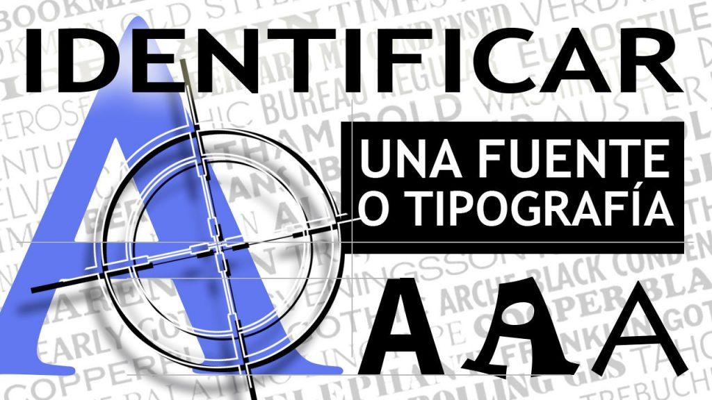 identificar tipografía