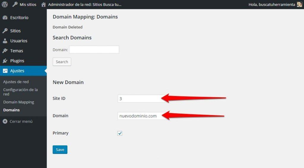 dominios en multisitio 5