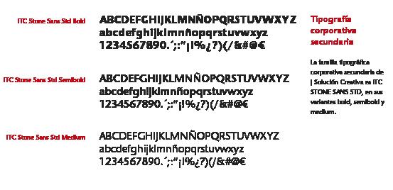 tipografía secundario en el logotipo