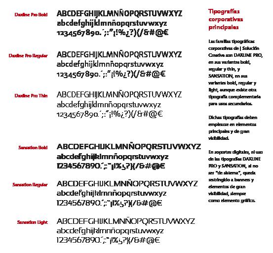 tipografía principal en el logotipo