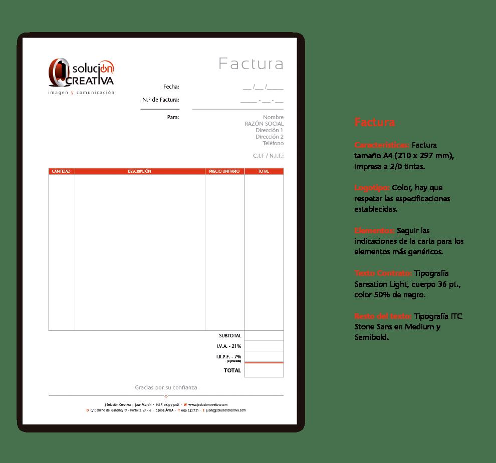 jsolucioncreativa papeleria complementaria factura
