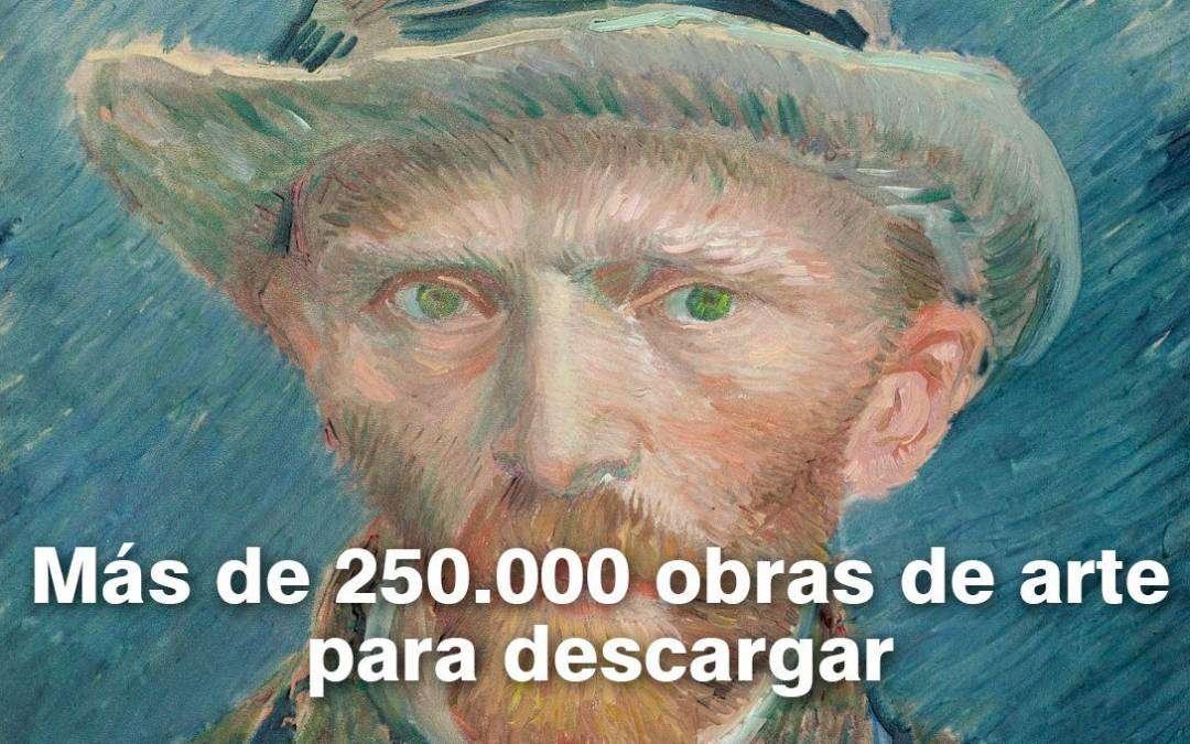 Más de 250.000 obras de arte para descargar