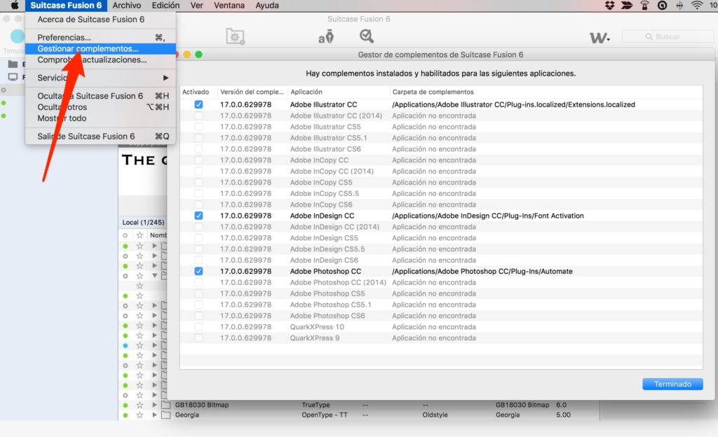 tipografías en mac Suitcase Fusion 4