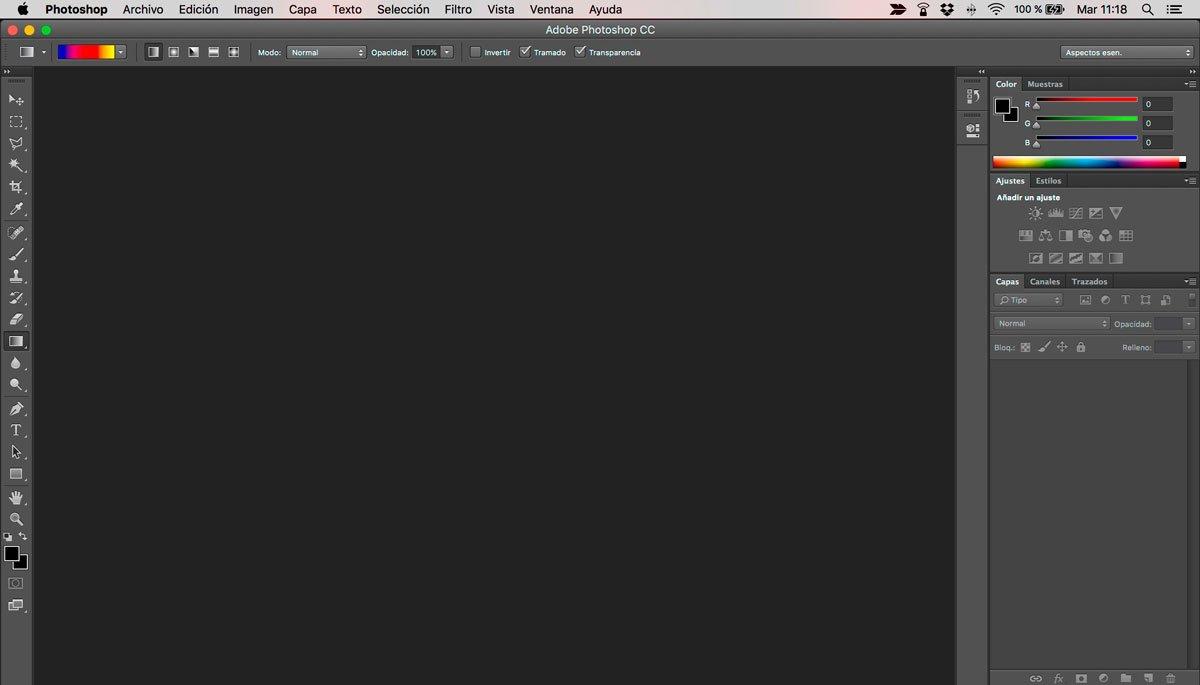 Configuración de Photoshop photoshop-escritorio