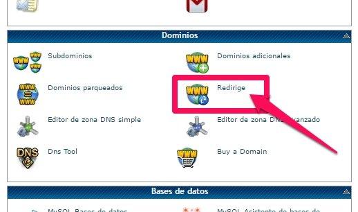 dominio con o sin www redirige