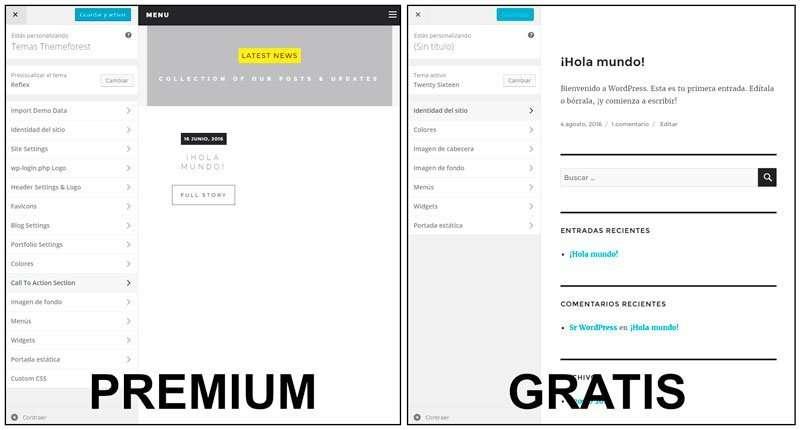 mejores temas de wordpress. funciones donde comprar plantillas de WordPress