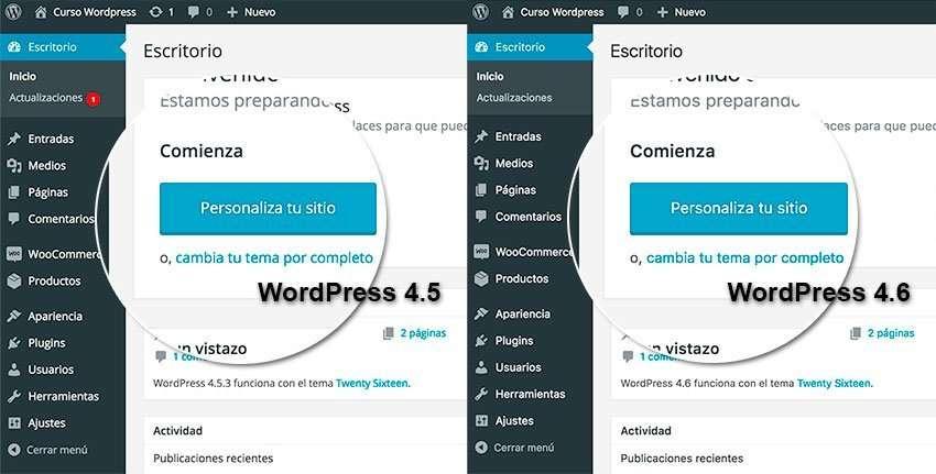 wordpress 4.6 fuentes nativas