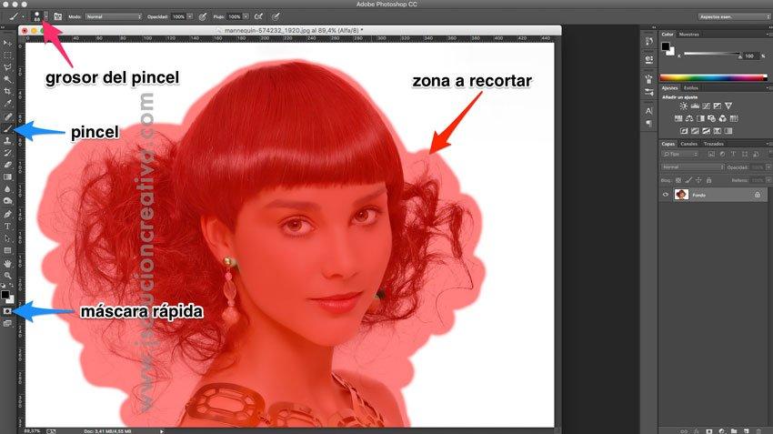 Cómo recortar cabello con photoshop 1