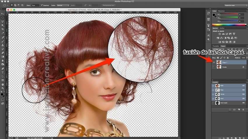 Cómo recortar cabello con photoshop 10