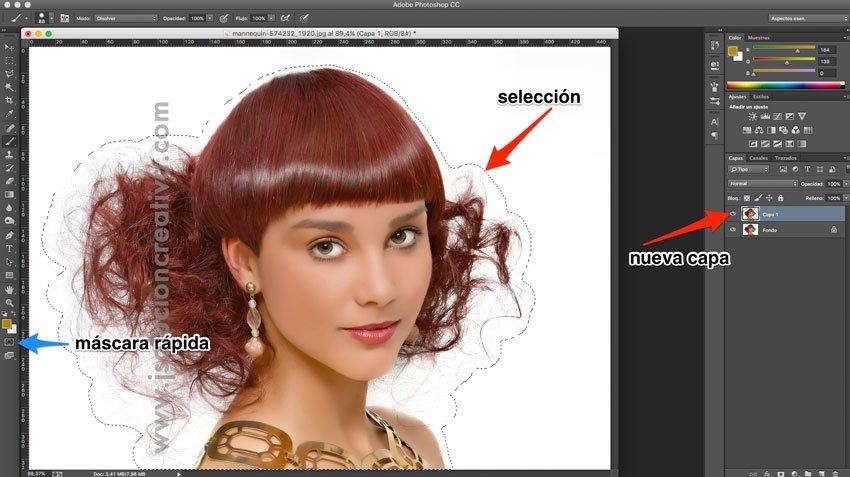 Cómo recortar cabello con photoshop 2