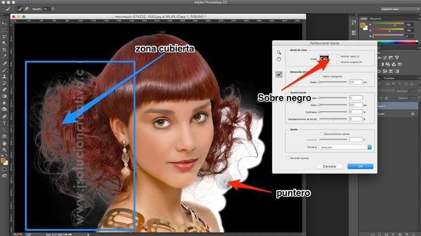 Cómo recortar cabello con photoshop 4