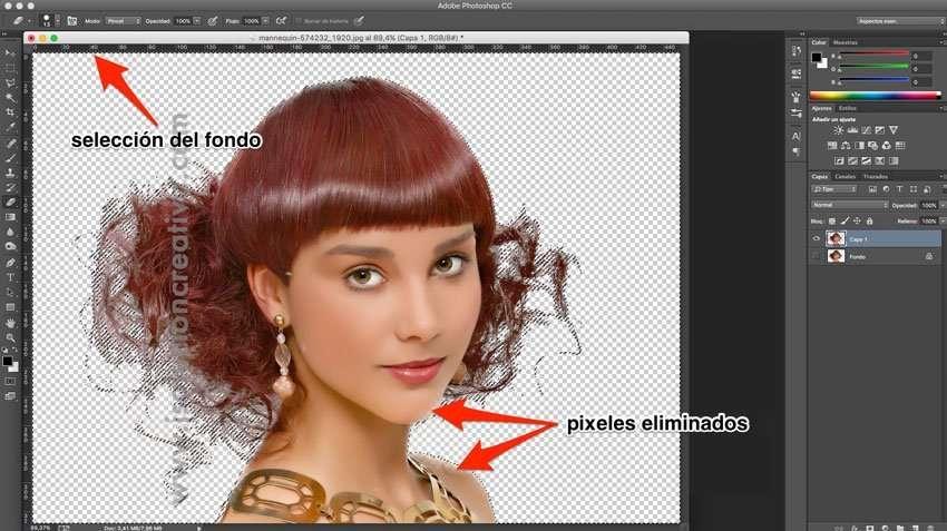 Cómo recortar cabello con photoshop 5