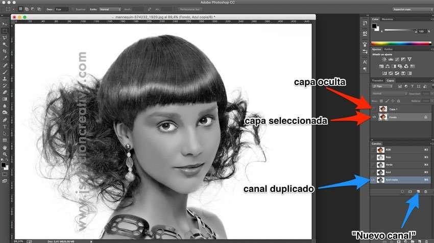 Cómo recortar cabello con photoshop 6
