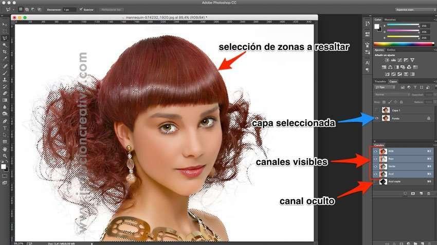 Cómo recortar cabello con photoshop 8