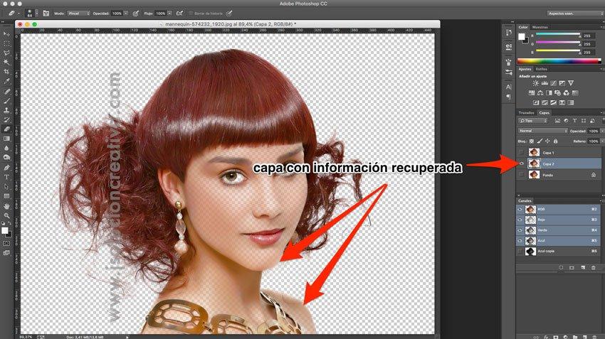 Cómo recortar cabello con photoshop 9