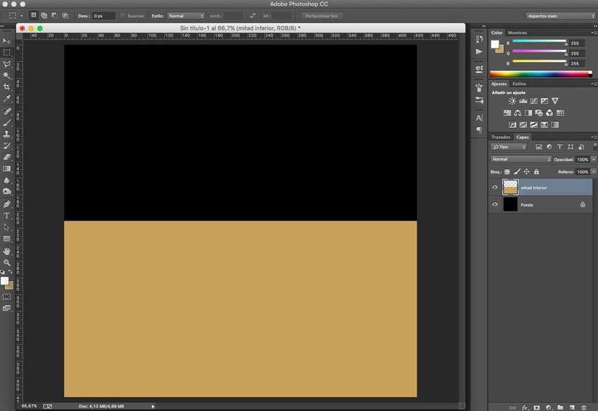 Efecto de reflejo con sombra en Photoshop