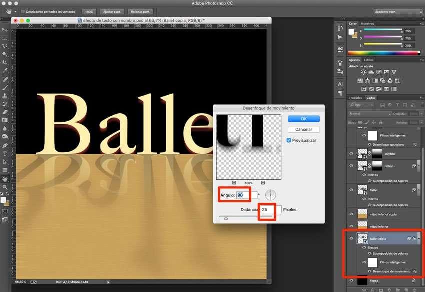 Efecto de reflejo con sombra en Photoshop 10