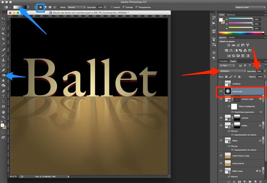 Efecto de reflejo con sombra en Photoshop 11