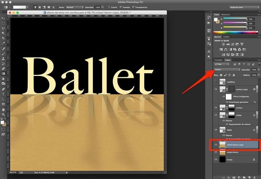 Efecto de reflejo con sombra en Photoshop 9