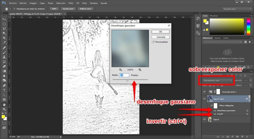 Convertir una imagen en un dibujo a lápiz 2