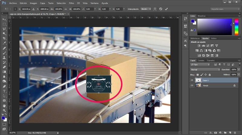 Cómo utilizar el punto de fuga de Photoshop. Transformar imagen