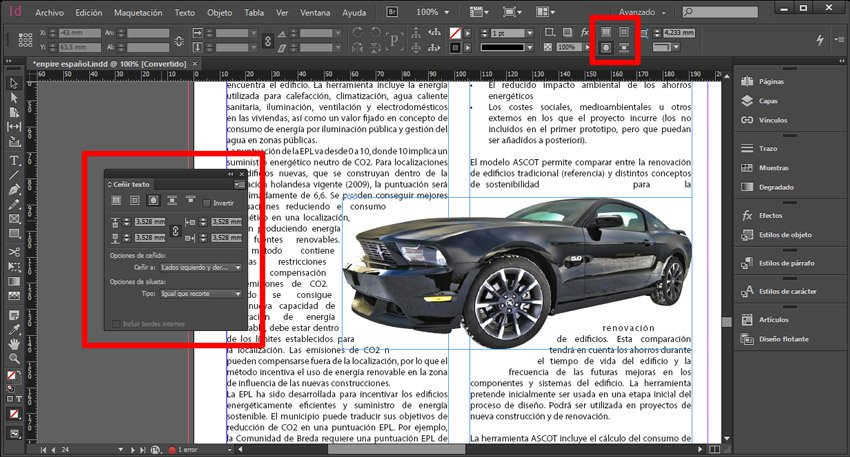 Exportar trazado de photoshop. Indesign