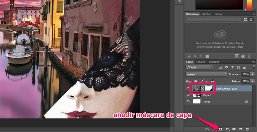 Máscaras de capa y de recorte de Photoshop 1