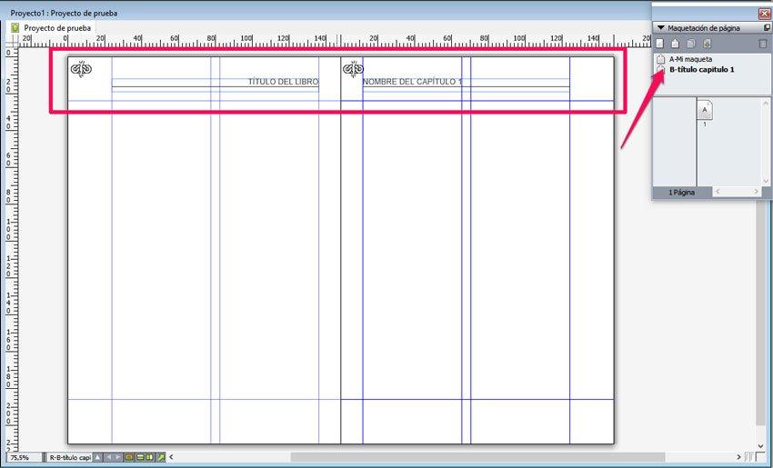 Maqueta en QuarkXPress. crear cabeceras diferentes