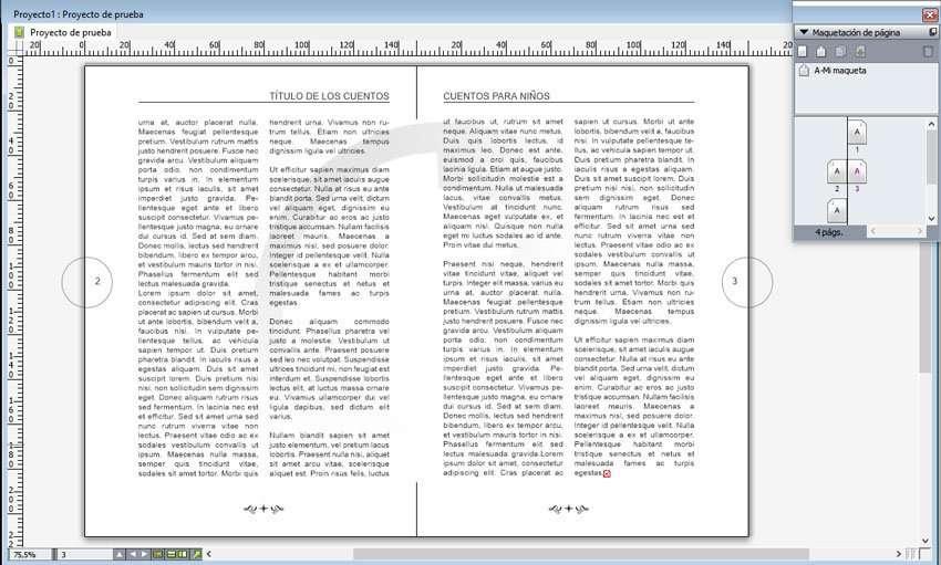 Maqueta en QuarkXPress. Modificar