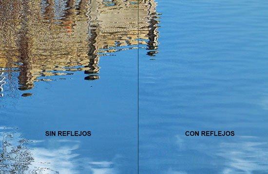 Reflejo sobre el agua. Brillos del agua2