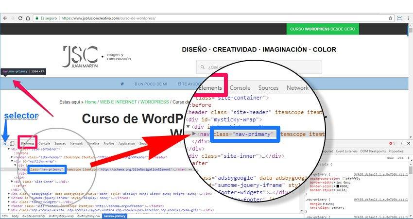 CSS3 sin saber programar. Identificar etiqueta