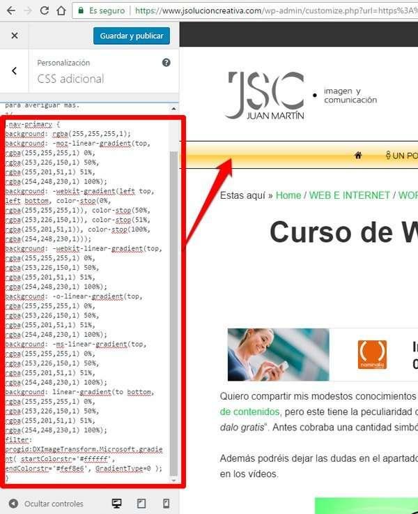 CSS3 sin saber programar. resultado final
