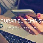 Configurar demo del tema Sydney en WordPress
