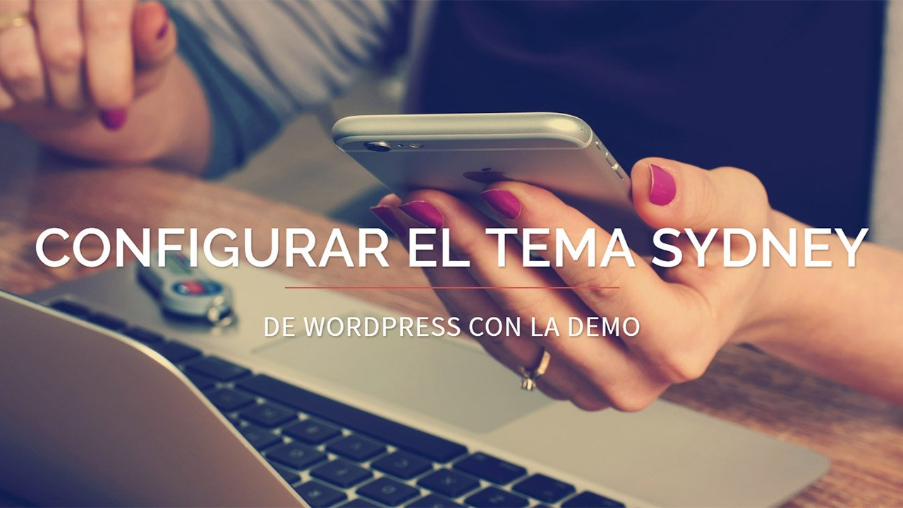 instalar demo en tema sydney de wordpress