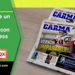Portada de periódico deportivo con QuarkXPress