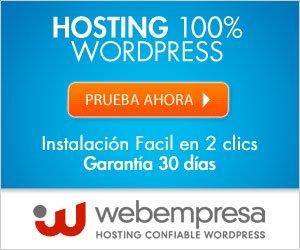 Servidor hosting Webempresa afiliacion
