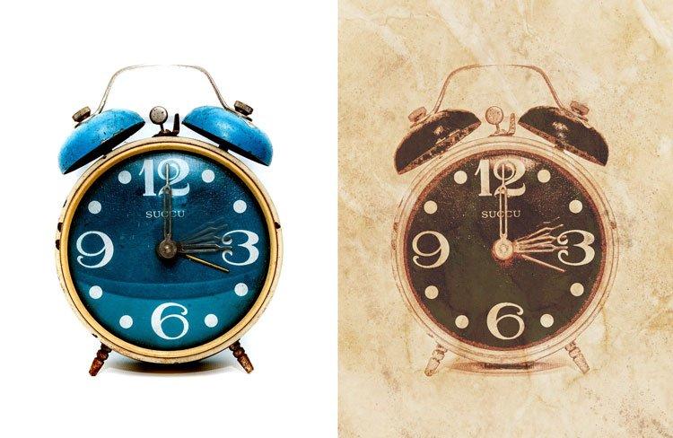 efecto vintage antes y despues