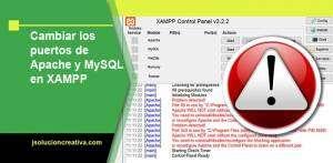 Cambiar los puertos de apache y mysql en Xampp