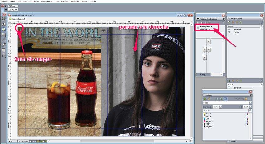maquetar una revista en QuarkXPress. Portadas