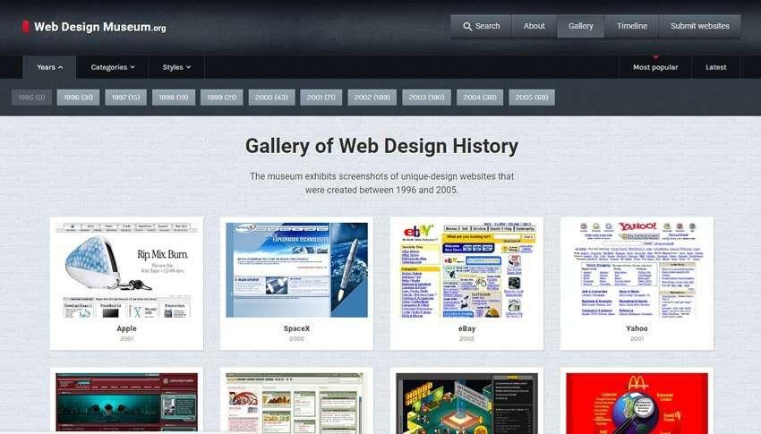 Galería Museo del Diseño Web