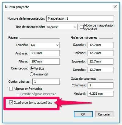 Cajas de texto en QuarkXPress automáticas