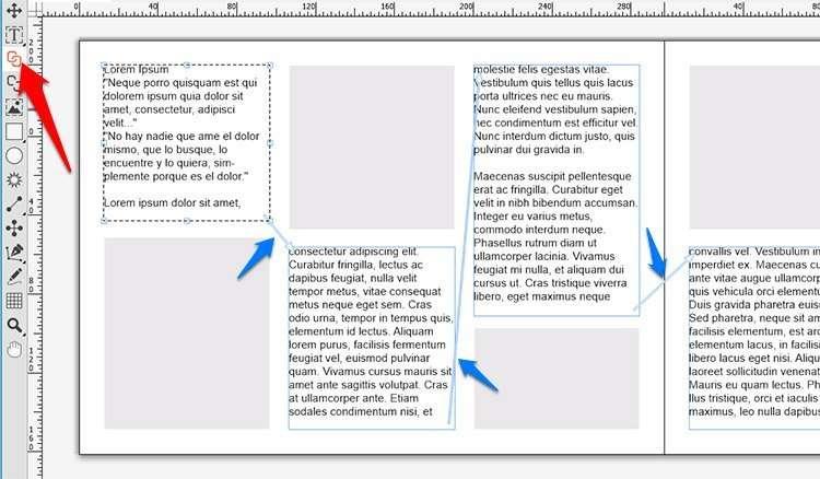 Vincular cajas de texto en QuarkXPress de forma manual