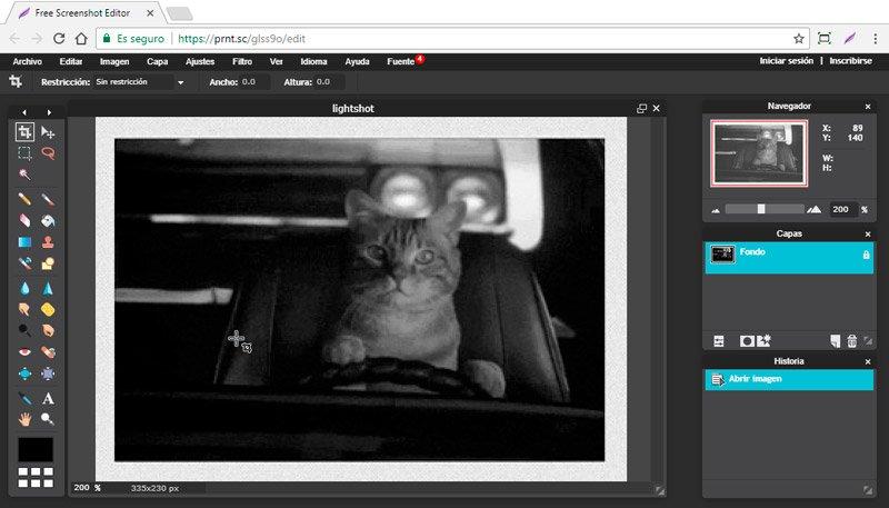 editar la imagen tras capturar la pantalla del ordenador