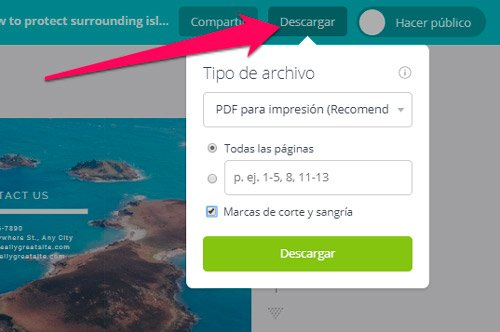 descargar folleto en canva